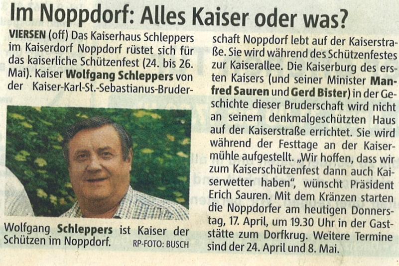 Rheinischen Post Mai 2008