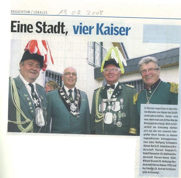 Westdeutschen Zeitung vom 19.07.2008