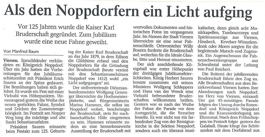 als den Noppdorfern ein Licht aufging Rheinische Post 2004